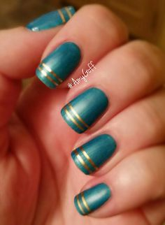 My #gelish #nailart for this week with a matte finish #AmyGoff