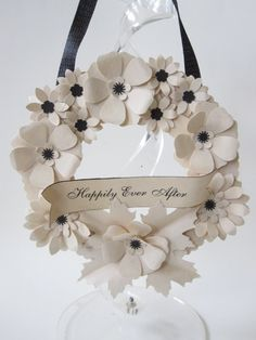 Wedding Wreath Happily Ever After Sign by carrieklein on Etsy, $32.00