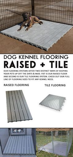For the dog owner who has sanitation and comfort for their dogs in mind, kennel flooring is a wise choice. Here at K9 Kennel Store, you can find the best kennel flooring in the market. Choose between two types of flooring: the Raised Kennel Deck, and the Kennel Tiles.