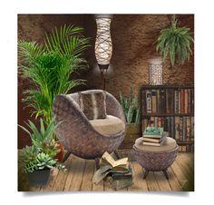 Rattan Interior by craftygeminicreation on Polyvore featuring polyvore interior interiors interior design home home decor interior decorating Universal Lighting and Decor Nearly Natural Threshold