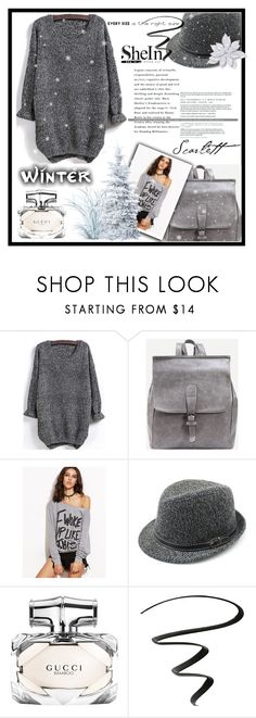 """Shein 10/3"" by erina-salkic ❤ liked on Polyvore featuring Gucci and NYX"