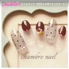 スモーキー/ブラウン/ボルドー/アンティーク/シースルー - chambre nailのネイルデザイン[No.2476355] ネイルブック