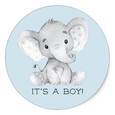 Cute Elephant It' a Boy Favor Sticker Sweet little Elephant Baby Shower Favor sticker for a boys baby shower. Elephant Baby Shower Favors, Idee Baby Shower, Baby Shower Souvenirs, Elephant Theme, Elephant Baby Showers, Baby Shower Thank You, Cute Elephant, Baby Boy Shower, Baby Shower Gifts