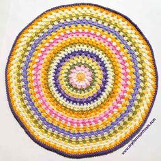Easter granny mandala finished.. Free pattern!