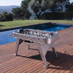 Outdoor RS Barcelona Football Table RS Outdoor designed by Rafael Rodríguez for RS Barcelona is a football table available in 7 different finishes. Balls set units) and 2 extra players included. Outdoor Foosball Table, Outdoor Tables, Outdoor Baby, Indoor Outdoor, Outdoor Decor, Luxury Gifts For Men, Table Football, Barcelona, Table Games