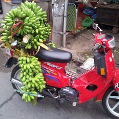 Banana bike. Ho Chi Minh City, Vietnam Travel, Banana, Bike, Culture, Instagram, Fashion, Bicycle, Moda