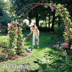 Stunning Creative DIY Garden Archway Design Ideas