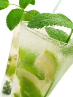 Mojito   Ingredients:  - 1.5 oz Bacardi Rum  - 12 fresh spearmint leaves  - 1/2 lime  - 7 oz Sprite zero or club soda  - 2 tbsp. Splenda