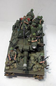 (more or less) our panther tank, modified for service in the georgian bayou, year 10 PM Military Guns, Military Art, Military Vehicles, Plastic Model Kits, Plastic Models, Sheridan Tank, Good Morning Vietnam, Tin Can Crafts, Model Tanks