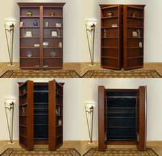 bookshelf murphy bed---want one of these in my guest room!