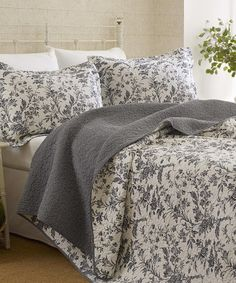 Look what I found on #zulily! Black Amberley Quilt Set by Laura Ashley Home #zulilyfinds