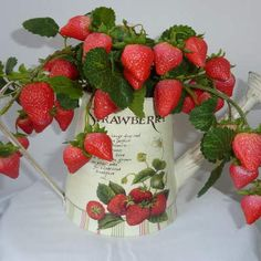 Image detail for -... Shabby Chic Strawberry Watering Can - Flowers & Vases Online