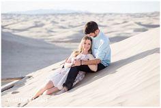 Little Sahara sand dunes engagement photo. Utah Wedding Photographer. Whitney Hunt Photography