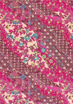 Hot Pink Byzantine Design Japanese Yuzen Chiyogami by mosaicmouse, $1.80