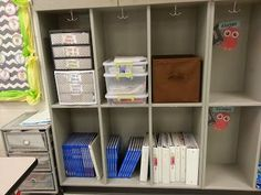 Second Grade Nest: Reogranizing My Small Group Nook Organizing Paperwork, Classroom Organization, Organization Hacks, Small Group Area, Small Groups, Cubbies, Shelves, Classroom Design, Second Grade