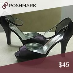 Purple shoes Satin purple shoes like new in good condition Michael Antonio Shoes Heels