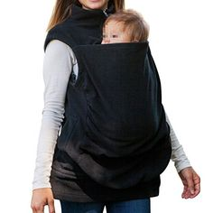 Kangaroo Fleece  3 in 1 MultiFunction Mother Baby Carrier Sleeveless Fleece Vest Couture Winter Jacket Kangaroo Sleeping Bag  Black >>> See this great product. (This is an affiliate link) #HashTag3