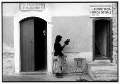by Constantine Manos Elounta, Crete, Greece, 1964 Retro Signage, Signage Design, Magnum Photos, Old Photos, Vintage Photos, Greece Pictures, Photographer Portfolio, Crete Greece, Famous Photographers