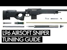 How to Upgrade a Marui Airsoft Sniper - Tuning Guide Airsoft Sniper, Airsoft Guns, Shooting Games, Air Rifle, Survival, Rifles, Youtube, Shooter Games, Cheat Sheets