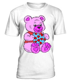 Cute purple teddy bear kids lig - tshirt - Tshirt
