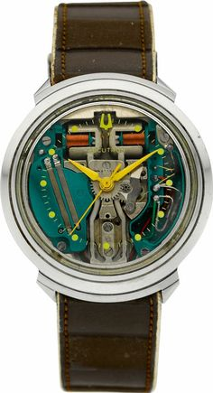 "Bulova Steel ""Spaceview"" Accutron, circa 1961. Wow. What a crazy thing."