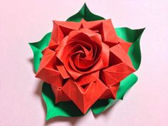 Beautiful Rose  - Designed and Folded by Masahiro Ichikawa