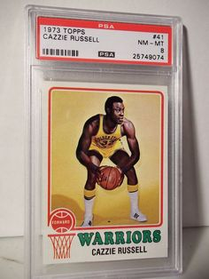 1973 Topps Cazzie Russell PSA NM-MT 8 Basketball Card #41 NBA Collectible…