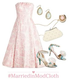 """""""Tastefully Graceful Dress"""" by modcloth ❤ liked on Polyvore featuring Betsey Johnson"""