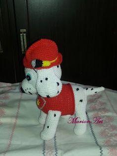 MarionArt: Marshall a Mancs őrjáratból amigurumi minta Crochet Patterns Amigurumi, Crochet Toys, Amigurumi Minta, Hooded Scarf, Dog Pattern, Paw Patrol, Arts And Crafts, Hats, Ideas