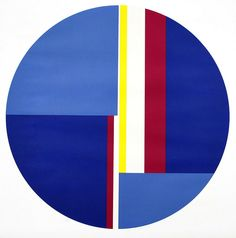 Ilya Bolotowsky - Blue Tondo  (Bryce Hudson Collection)