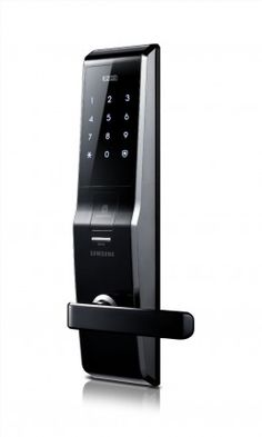 A Samsung Digital Life is the one-stop center for secure digital door lock, video intercom system and home automation system with the sleek and good design from Samsung and more. Hanman International Pte Ltd is a authorised distributor for Samsung product Home Security Tips, Safety And Security, Security Doors, Biometric Security, Smart Home Technology, Technology Gadgets, Home Defense, Home Safety, Home Gadgets