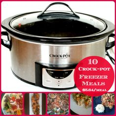 10 Crock-pot Freezer Meals for $5.64 a Meal, includes grocery list and recipes all in one post.