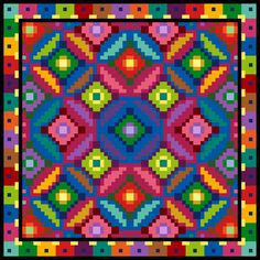 PDF CLEARANCE Honeycomb Cross Stitch Chart By Purplepatchdesign - Instant Download Chart