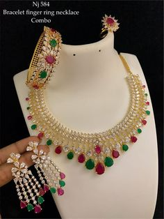 7286062150 ping me for orders Multi Coloured Necklaces, Pooja Rooms, Chains, Wedding Jewelry, Abs, Traditional, Jewels, Jewellery, Studio