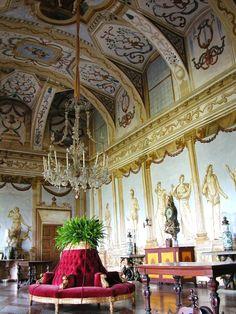 Castle of Masino interior, Piedmont, Italy