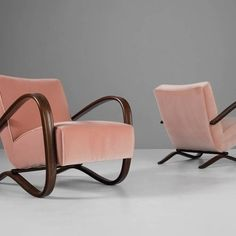 1930s lounge chairs designed by Jindrich Halabala and produced by Thonet, available at 1stdibs; $5,800 for a set of two. 1stdibs.com