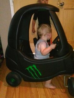 Cozy coupe pimped out...my lil monster