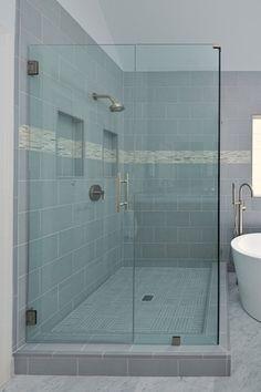 contemporary shower frameless glass