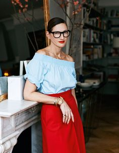 Jenna Lyons in red.