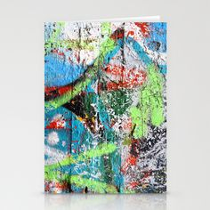 Graffiti Texture Stationery Cards by Fine2art - $12.00