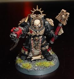 Chaplain in Terminator Armour Warhammer 40000, Sci Fi Miniatures, Warhammer Models, Dark Angels, Space Wolves, Model Art, Tabletop Games, Space Marine, Cool Paintings