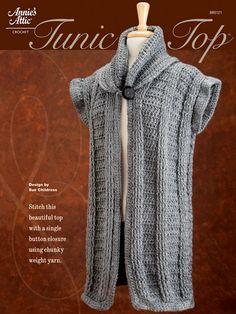 Crochet - Crochet Clothing - Vest Patterns - Tunic Top