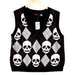 Torrid Argyle Skull Halloween Ugly Sweater Vest - New! - The Ugly Sweater Shop from The Ugly Sweater Shop. Saved to Ugly Sweaters! Sweater Shop, Ugly Sweater, Halloween Skull, Vintage Sweaters, Being Ugly, Torrid, Spring Fashion, Vest, Plus Size