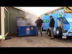 Eco 190 Degrees Dumpster & Trash Bin Cleaning Services www HydroChemSyst...