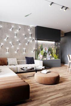 Home Aquarium, Aquarium Design, Home Decor Bedroom, Living Room Decor, Inside A House, E Room, Gothic Home Decor, Living Room Inspiration, Living Room Designs