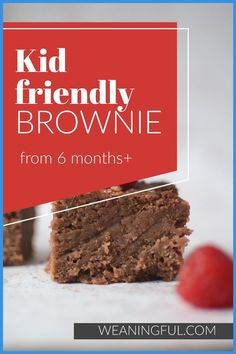 This is a brownie recipe which has no refined sugar and makes great finger food and first food even for babies who are just starting solids. You can replace the date syrup if you want and beans make this healthy version extra nutritious for the little ones. Healthy Baby Food, Healthy Meals For Kids, Meals For One, Easy Healthy Recipes, Baby Food Recipes, Kids Meals, Baby Led Weaning First Foods, Baby First Foods, Baby Finger Foods
