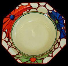 Clarice Cliff 'Fantasque' bowl. Diameter 23 cm