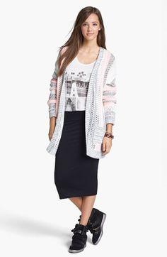 Love on a Hanger 'Kimchi' Stripe Cardigan (Juniors) available at #Nordstrom (Blue, Medium)