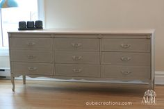 dresser 9 drawers french provincial by AUBEdesign on Etsy