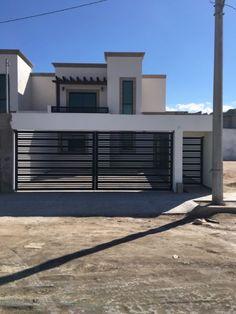 Home Gate Design, House Main Gates Design, House Fence Design, 2 Storey House Design, Garage Door Design, Home Design Floor Plans, Home Building Design, Small Modern House Plans, Minimal House Design